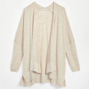 LOFT Textured Open Poncho Cardigan, Size Medium